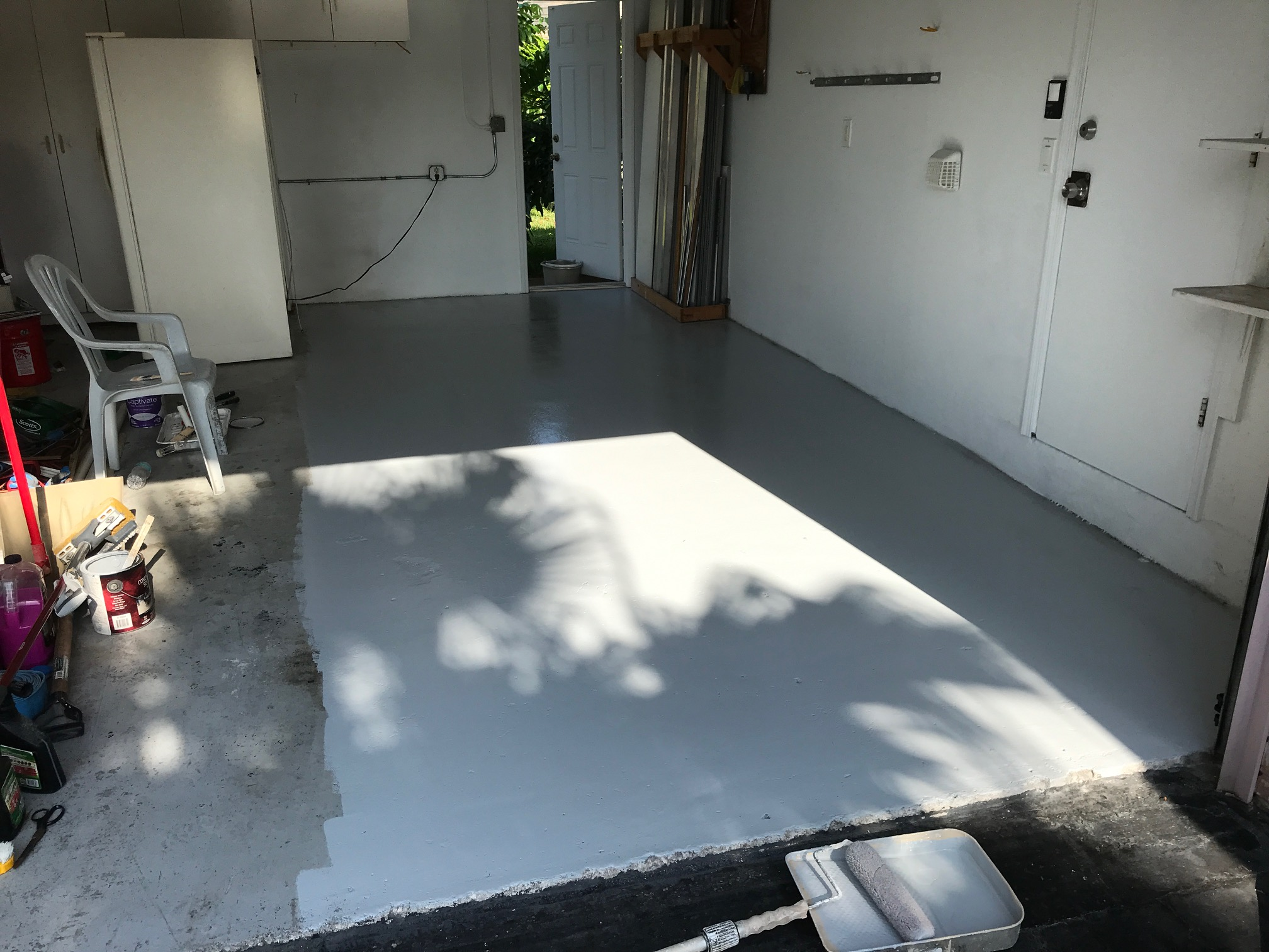 photo of garage after being repainted
