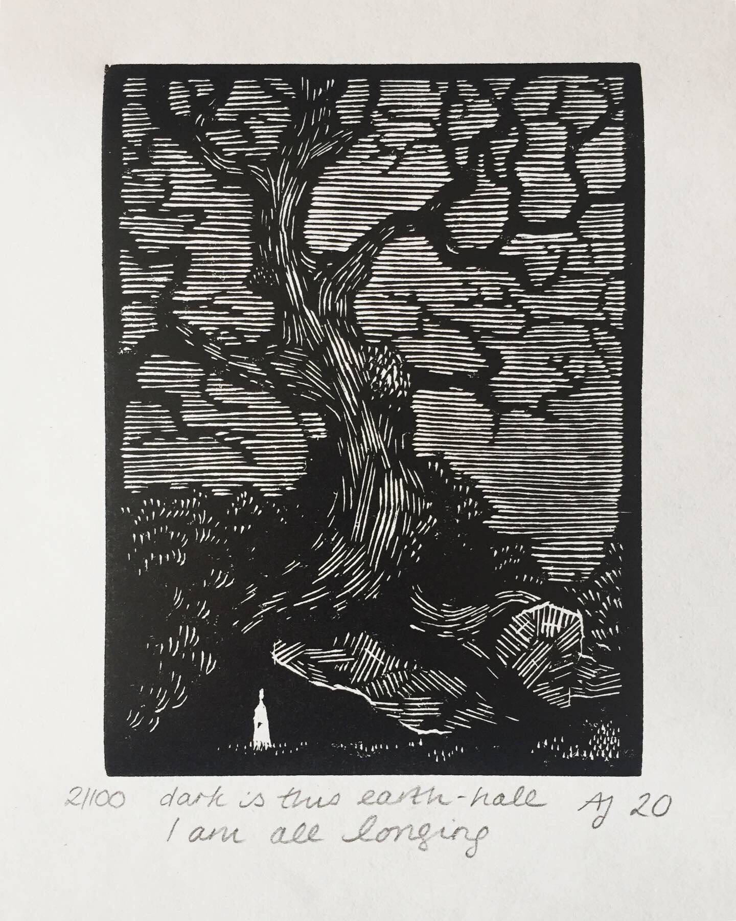 Wood engraving of a tree